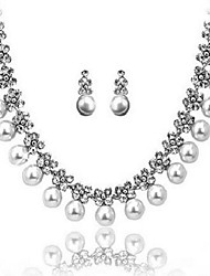 Women's Jewelry Set Pearl Luxury Bridal Pearl Imitation Diamond 1 Necklace 1 Pair of Earrings For Wedding Daily Wedding Gifts