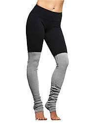 Course / Running Bas Femme Respirable Coton Yoga Course/Running Sportif non élastique Mince Vêtements de Plein Air AthleisureNoir Bleu