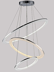 Modern Design LED Pendant Light Ceiling Acrylic Chandeliers Lighting with 3 Rings 305070CM 58W CE FCC ROHS