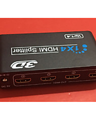 HDMI Splitter One Divided Into Four Support 3D HDMI Quality And Stability