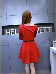 signe # 7920 2016 nouveau single robe sexy bustier oblique irrégulière