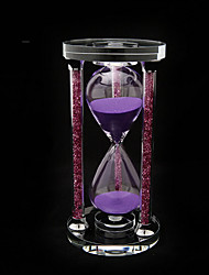 Hourglasses 15min Novelty Toy Cylindrical Glass Purple For Boys / For Girls 5 to 7 Years / 8 to 13 Years / 14 Years & Up