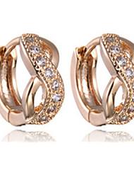 Women's Hoop Earrings Luxury Imitation Diamond Alloy Infinity Jewelry For Party