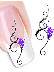 1sheet  Water Transfer Nail Art Sticker Decal XF1424