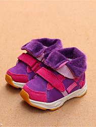 Girls' Boots Fall Winter Comfort Cowhide Casual Flat Heel