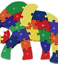 Пазлы Пазлы Строительные блоки DIY игрушки Слон 1 Дерево Радужный