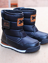 Boy's Boots Winter Comfort Customized Materials Casual Flat Heel Black