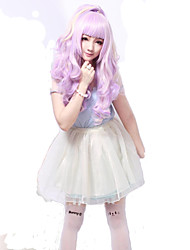 Lolita Wigs Sweet Lolita Princess Medium / Curly Purple Lolita Wig 55 CM Cosplay Wigs Solid Wig For Women