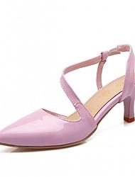Homme-Bureau & Travail Habillé Décontracté-Violet Rouge Beige-Talon Aiguille-Confort-Chaussures à Talons-Similicuir