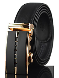 Men's Luxury Gold/ Silver Automatic Buckle Waist Belt Work/Casual Alloy/Leather All Seasons