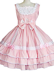 One-Piece/Dress Sweet Lolita Princess Cosplay Lolita Dress Solid Sleeveless Long Length Dress For Cotton