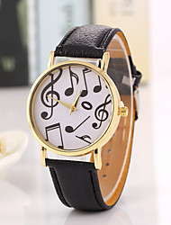 New School Student Watch Men Watch Music Pattern Leather Watch Unisex Watch Women Watch
