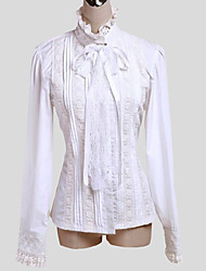 Blouse/Shirt Sweet Lolita Elegant Cosplay Lolita Dress Solid Long Sleeve Lolita Top For Cotton
