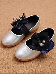 Girl's Flats Comfort Leatherette Casual Silver Gold