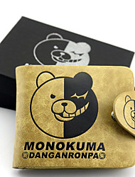Bag / Wallets Inspired by Dangan Ronpa Monokuma Anime/ Video Games Cosplay Accessories Wallet Yellow Leather Male