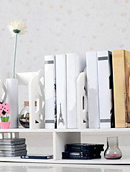 Modern White Water Cube Pattern Desktop Book Shelf