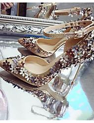 Damen-High Heels-Outddor-KunstlederOthers-Silber Gold