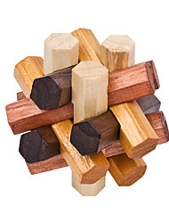 Assembly & Disentanglement Puzzles / Kong Ming Lock / Toys Novelty Toy Toys Wood Brown / Khaki For Boys / For Girls5 to 7 Years / 8 to 13