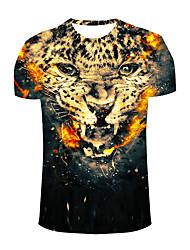 Tee-shirt Hommes,Imprimé Sortie / Plage / Vacances simple / Bohème / Actif Printemps / Eté Manches Courtes Col Arrondi Blanc Polyester