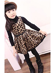 Girl's Casual/Daily Solid Leopard Dress,Rayon Summer Sleeveless