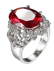 Fashion Jewelry Creative Lady Red Zircon Ring Jewelry Accessories Gifts