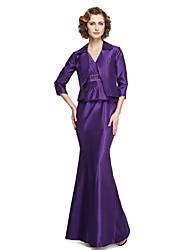 2017 lanting gaine / colonne bride® mère de la robe de mariée - deux pièces cheville longueur manches satin stretch