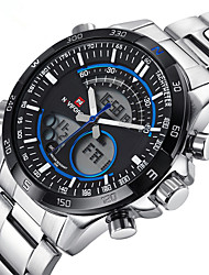 Men NAVIFORCE Sport Dual Display Steel Watch