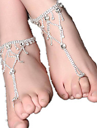 femmes disent alliage perle bijoux cheville 1pc