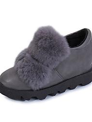 Women's Boots Fall Comfort Suede Office & Career Dress Casual Low Heel Black Gray