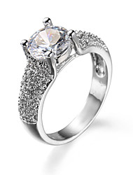 Brand Latest Design Circular Natural Big Rings for Women Embedded Zircon Jewelry #95132