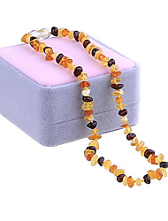 Men's Women's Choker Necklaces Chain Necklaces Strands Necklaces Onyx Topaz Agate Amber Single Strand Oval RoundAdorable Magnetic Therapy