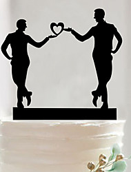 Gay acrylic wedding cake inserted fine decoration birthday cake inserted card