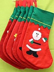 Stockings Gift Bags Unlit Holiday Textile Christmas Decoration 1pcs