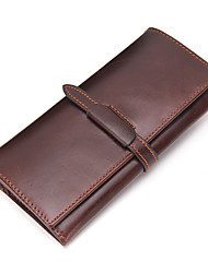 Men Cowhide Casual Office & Career Shopping Checkbook Wallet All Seasons