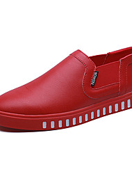 Men's Shoes Casual Loafers Black / Red/White