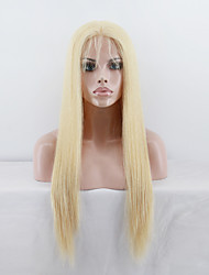 Top Grade Brazilian Virgin Hair Full Lace Wig Straight Hair Blonde 613 Color Human Virign Hair Lace Wig For Fashion Woman