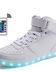 Homme Baskets Confort Synthétique Printemps Eté Automne Hiver Athlétique Confort LED Blanc Plat