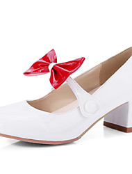 Women's Shoes Chunky Heel Square toe Bowknot Pump More Color Available