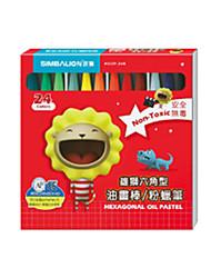 24 crayons de couleur peinture bâton de stylo de couleur pour les enfants ne se décolorent pas de couleur vive