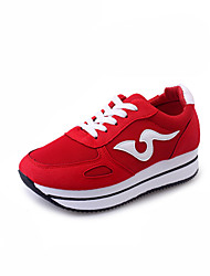 Для женщин Спортивная обувь Удобная обувь сутулятся сапоги Полиуретан Осень Зима Повседневные Для прогулок Удобная обувь сутулятся сапоги