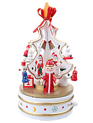WOODEN ROTATION MUSIC TREE FESTIVE DESKTOP DECORATION
