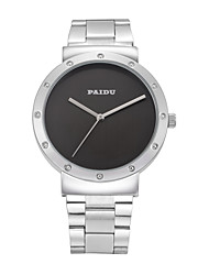 Paidu Trend Of Korean Non Scale Three Pin Large Dial Mens Watch