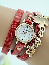Women's Fashion New Angel Wings Bracelet Watch Quartz Wing Leather Band Charm