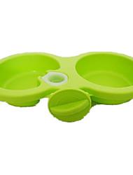 Cat Dog Feeders Pet Bowls & Feeding Portable Green Pink Plastic