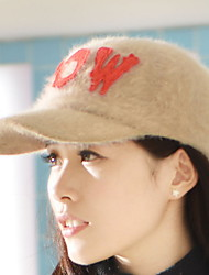 Autumn And Winter The New Korean Version Of The Hat Letters ROW Rabbit Hair Cap Baseball Cap