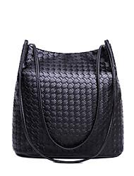 HOWRU ® Women 's PU Tote Bag/Single Shoulder Bag/Crossbody Bags-Black/Dark Blue