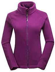 Trilha Moletom Mulheres Impermeável Térmico/Quente A Prova de Vento Forro de Velocino Primavera Outono Inverno Terylene Vermelho Azul Roxo