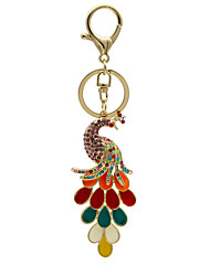 Rainbow peacock fashion diamond key buckle buckle bags