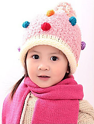 Girl's Knitting Cute Winter Going out/Casual/Daily Keep Warm Color Headgear Pink Hat Children Cap