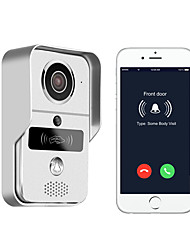 720P smart home WiFi video door phone, 2.4G wireless video door phone with RFTD card, wireless unlock MetalFotografado Gravação RFID